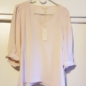 NWT Rebecca Taylor light pink blouse, size 10